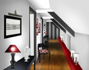 décoration d'un couloir