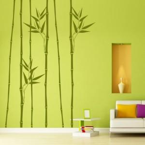 autocollant de bambous